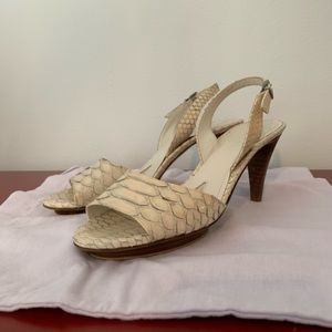 Gorgeous ivory Python Jil Sander heels
